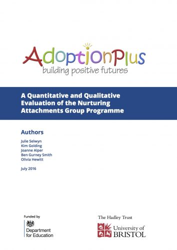 A Quantitative and Qualitative Evaluation of the Nurturing Attachments Group Work Programme across four geographical sites